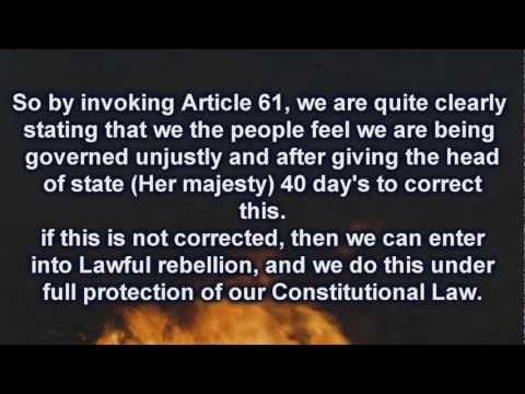 The Magna Carta And Article 61 (Lawful Rebellion)